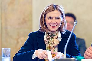 Ermina Salkievi-Dizdarevi, Deputy Minister of Foreign Trade and Economic Relations of Bosnia and Herzegovina and ICPDR President in 2013. 