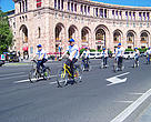 Cyclists heading for the State Museum of Nature in Yerevan