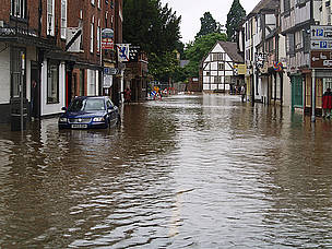 The town of Tewkesbury in Gloucestershire, UK, was badly affected by the floods in July 2007.  / ©: Cheltenham Borough / Flickr.com