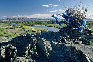 Sacred bush on a riverbank in Mongolia / ©: WWF-Canon / Anton VORAUER