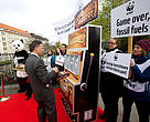 WWF highlighted the risk associated with betting on fossil fuels by setting up a mock casino outside the Estrel Convention Centre in Berlin, Germany where the IPCC is currently meeting.