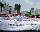 Climate change denies people the basic human rights of food security and water security.