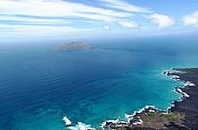 Vista aérea de las islas Galápagos, Ecuador