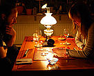 Playing Scrabble in Sweden during Earth Hour 2009.