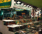 Live coral reef species for sale as seafood, Hong Kong.