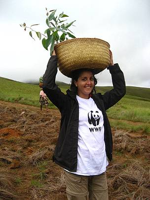 Clélie Ropart, WWF Volunteer in Madagascar with the project Innovative Community Finance Mechanism ... / ©: WWF / Clélie Ropart
