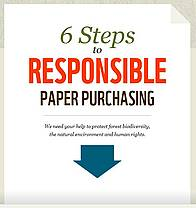 How paper buyers can help reduce the environmental footprint of paper / &copy;: WWF International