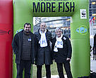 Spanish MEP Raul Romeva, Mauricio, artisanal fisherman from MedArtNet and WWF`s Raul Garcia choose more fish!