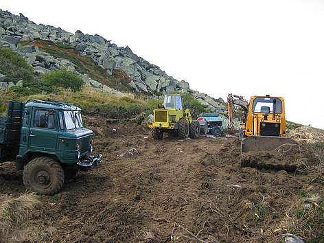 Illegal construction of ski run in Vitosha Nature Park, close to Bulgaria's capital Sofia rel=