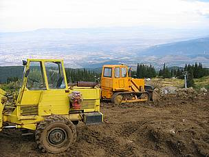 Illegal construction of a ski run in Vitosha Nature Park, close to Bulgaria's capital Sofia