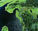 An aerial view of the Rio Negro Forest Reserve in Amazonas, Brazil. The Amazonas government has announced the addition of three million hectares of protected areas in the region.