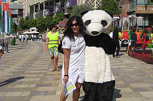 Anjana with the Panda