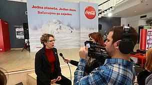 WWF and Coca-Cola Arctic Home campaign in Belgrade, Serbia