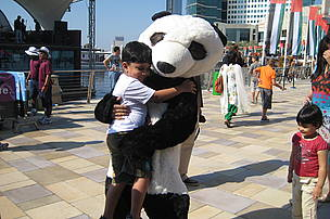 With the panda
