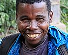 Mr Mutingi, a BaAka forest expert, works as guide and animal tracker for the Dzanga Sangha protected area.