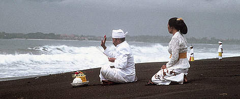 Blessing of the Ocean, Balinese New Year, Bali, Indonesia. rel=