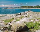 Rocky seashore. Baltic Sea, Finland.