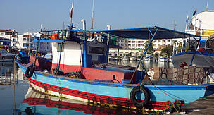 Artisanal fishing boat in Tunisia