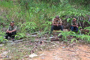 Rangers taking a break in between patrolling, Royal Belum State Park, Malaysia