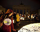 WWF earthhour event 2012, Berlin in front of the Brandenburg Gate