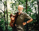 HRH Prince Bernhard of the Netherlands, WWF Founder President 1961-1976, visiting the tropical rainforests of Borneo.