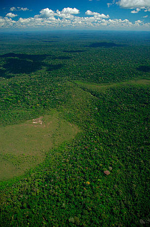 Aerial view of Cerrado savannah area, Juruena National Park, Brazil. / ©: WWF / Zig KOCH