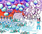 Viviana Araya ilustra el ciclo del agua y el compromiso de WWF con las cuencas hidrográficas y el agua sostenible