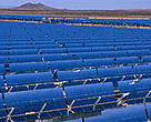 The worlds largest solar power facility, Solar 2, in the Mojave Desert, California, US.