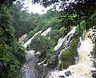The spectacular Memve'ele waterfalls bordering the Campo Ma'an National Park, Cameroon.