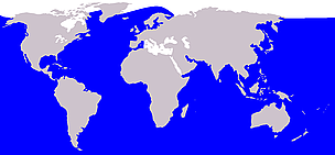 Humpback whale range / &copy;: Wikipedia