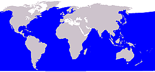 Sei whale range / &copy;: Wikipedia