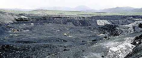 Coal mine in the Altai mountains, Nüürstkhotgor, Mongolia. rel=