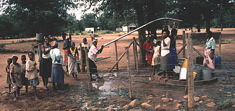 A community well. Chilo National Park, Zimbabwe. rel=