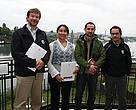 El Director Nacional de WWF Chile, Ricardo Bosshard, junto a la Directora Regional de Conaf Los Ros, Claudia Lopetegui