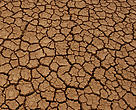 Santa Cruz Province, Patagonia, Argentina Crackled ground because of drought in a dried-up lake, Santa Cruz Province, Patagonia, Argentina.