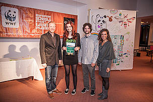 The winning class from Croatia during the European Schools for a Living Planet closing event, 2013.