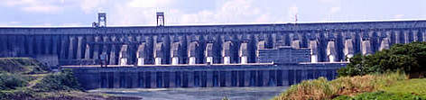 Itaipu, one of the largest dams in the world on the border between Brazil and Paraguay, has caused ... rel=