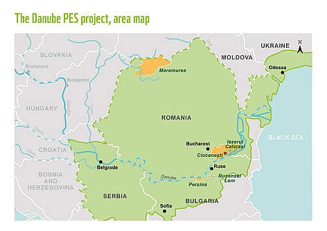 The Danube PES project has five pilot sites in the Lower Danube area.  rel=