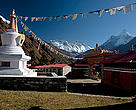 Dengboche Monastery, in the Everest region of the Himalayas in Nepal.