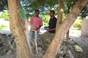 Deogratius interviews fisherman in Bagamoyo during his research