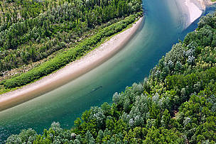 The Drava river in Croatia.