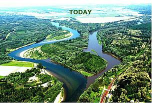 This photomontage shows the Drava-Mura confluence as it is today....