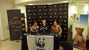 WWF-Orange press conference on launching partnership on ecorating in Yerevan