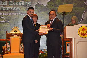 Crown Prince Haji Al-Muhtadee Billah, HoB, Heart of Borneo, Brunei Darussalam, 7th Trilateral Meeting, September 2013