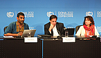 Press Conference Greenpeace, Oxfam, WWF at COP18, Doha, Qatar. WWF / Matthias Beyer