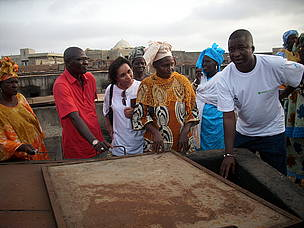 Birima Fall, Celeste Benchimol and women fish processor