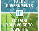 We will take your voice to the governments if you add your voice to save Heart of Borneo 