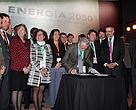 El lanzamiento de la iniciativa Energía 2050 fue encabezada por el ministro del ramo, Máximo Pacheco.
