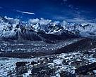 The crown of peaks above Khumbu glacier Near Mount Everest, Nepal