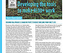 Developing the tools to make REDD+ work